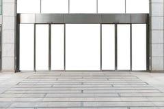 Shop-Butiken-Speicher-Front mit großem Fenster und Platz für Namen Stockbilder
