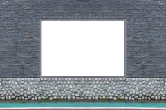 Shop-Butiken-Speicher-Front mit großem Fenster und Platz für Namen Lizenzfreies Stockbild