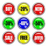 Shop Button Set Stock Photo
