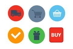 Shop buttons vector set. vector illustration