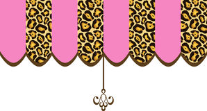 Shop Canopy Pink Leopard. Cute shop canopy pink and leopard animal pattern stock illustration