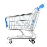 Shop cart 1. Shop cart on isolated white background Stock Images