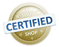 Shop certified Royalty Free Stock Photos