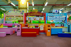 Shop for children in playground Stock Photo