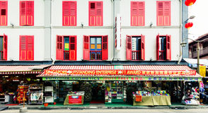 Shop in Chinatown. Street shop in Chinatown neighbourhood of Singapore Royalty Free Stock Photography