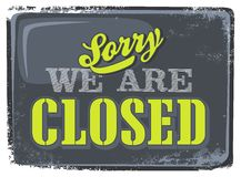 Shop closed information Royalty Free Stock Photos