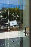Shop closed Sign on Glass Door Stock Photography