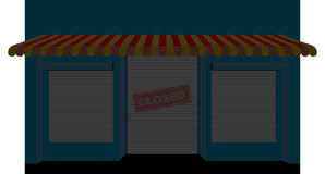 Shop closed. Storefront with a sign is closed. Facade of a store Royalty Free Stock Photography
