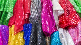 Shop for clothing materials Stock Images
