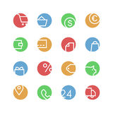 Shop colored icon set Royalty Free Stock Image