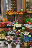 Sugar flowers from Sulmona, called Confetti. A shop with Coneftti, flowers from sugared almonds, a traditional product from Sulmona, in Abruzzo in Italy royalty free stock photos