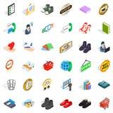 Shop cons set, isometric style. Shop icons set. Isometric style of 36 shop vector icons for web isolated on white background Royalty Free Stock Photo