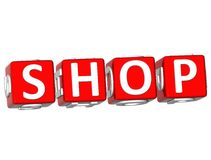 Shop Cube text Stock Photos