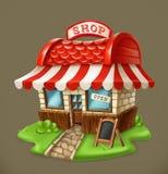Shop. 3d vector icon Royalty Free Stock Photos