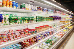 Shop of dairy produce Royalty Free Stock Photography