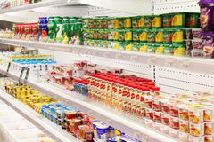 Shop of dairy produce Stock Photography