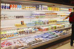 Shop of dairy products Royalty Free Stock Photography