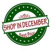 Shop in December. Rubber stamp with text shop in December inside, illustration Stock Illustration