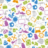 Shop department simple vectors icons seamless pattern eps10 Royalty Free Stock Images