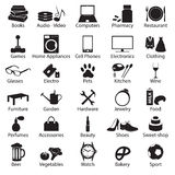 Shop department simple vectors symbols set eps10 Stock Image