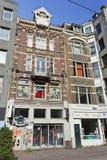 Shop in der historischen Villa, Amsterdam-Mitte. Stockfoto