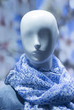 Shop dummy fashion mannequin in store window display Royalty Free Stock Image
