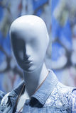 Shop dummy fashion mannequin in store window display Royalty Free Stock Photography