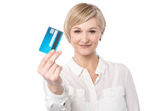 Shop ease with credit card. Royalty Free Stock Photo