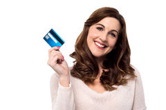 Shop easy with credit card. Royalty Free Stock Photo