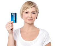 Shop easy with credit card ! Royalty Free Stock Image