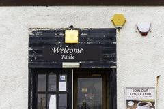 A shop entrance at John o` Groats Stock Photos