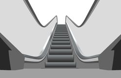 Shop escalator 3 vector Royalty Free Stock Photography