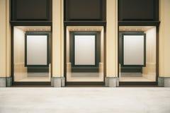 Shop exterior with blank frames Stock Photos