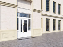 Shop exterior with blank walls Royalty Free Stock Photo