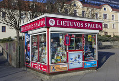 Shop für Verkauf von Zeitungen Lizenzfreie Stockfotografie