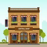 Shop Facade Illustration Royalty Free Stock Photo