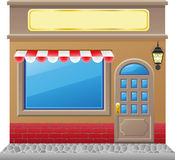 Shop facade with a showcase Royalty Free Stock Photography