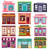 Shop facade vector illustration. Stock Photos
