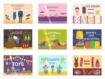 Shop facade vector illustration. Stock Image