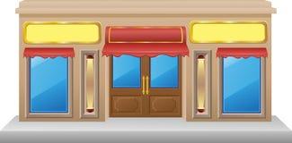 Shop Facade With A Showcase Stock Image