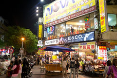Shop at Fengjia Night market Royalty Free Stock Image
