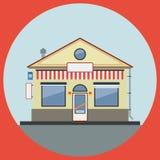 Shop flat vector illustration Stock Photos