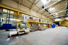 Shop floor at  Mytishchi Machine-building factory Royalty Free Stock Photos