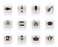 Shop, food and drink icons 1 Stock Photo