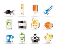 Shop, food and drink icons 1 Stock Images