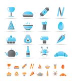 Shop, food and drink icons Royalty Free Stock Photography