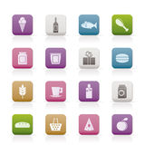 Shop, food and drink icons Stock Photo
