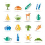 Shop, food and drink icons Stock Photos