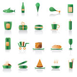 Shop and foods icons. Vector icon set Royalty Free Stock Photo