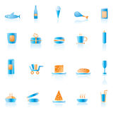 Shop and foods icons Stock Photography